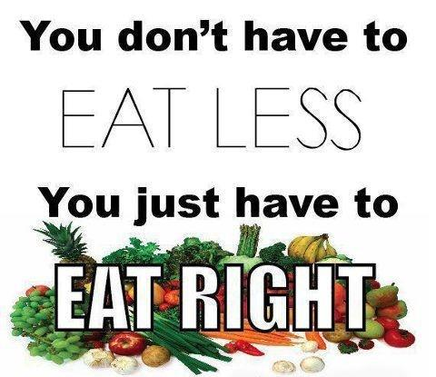 You don't have to eat less. You just have to eat right Picture Quote #2