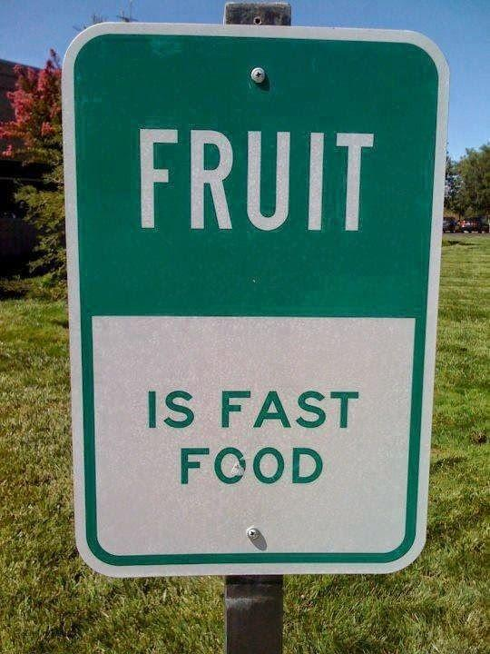 Fruit is fast food Picture Quote #1