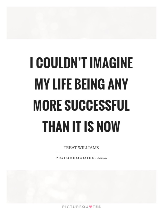 I couldn't imagine my life being any more successful than it is now Picture Quote #1