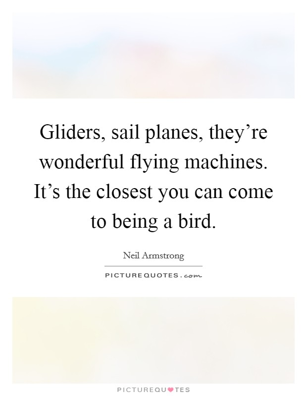 Gliders, sail planes, they're wonderful flying machines. It's the closest you can come to being a bird Picture Quote #1