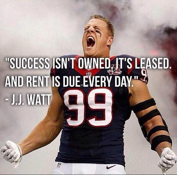 Success isn't owned, it's leased. And rent is due every day Picture Quote #1