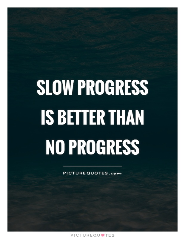 Slow progress is better than no progress Picture Quote #1