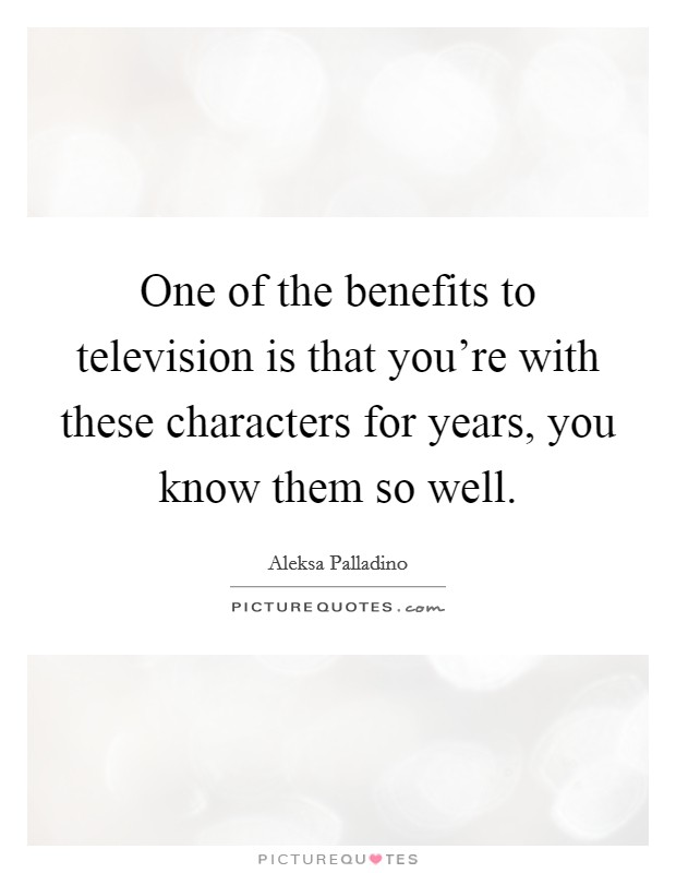 benefits of television