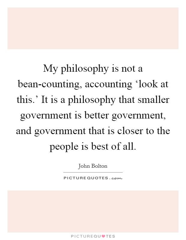 government philosophies quizlet
