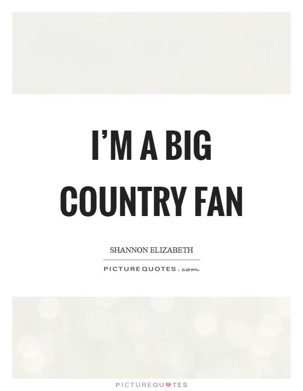 I'm a big country fan Picture Quote #1