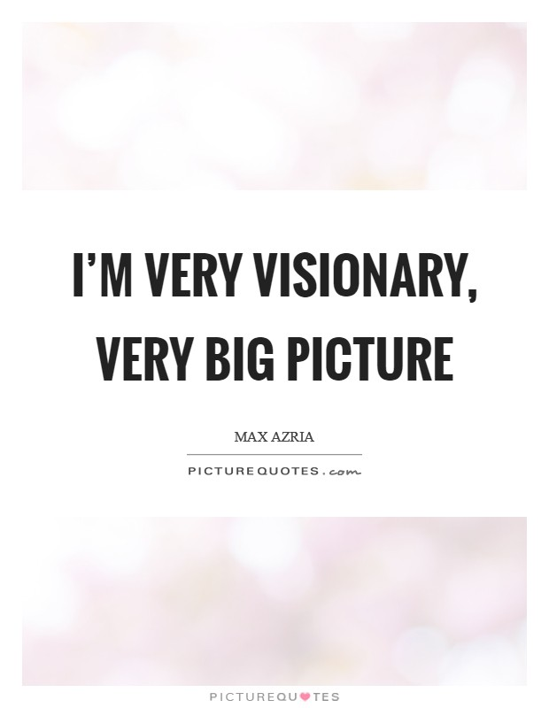 I'm very visionary, very big picture Picture Quote #1