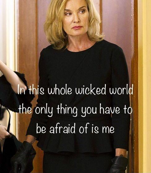 In this whole wicked world the only thing you have to be afraid of is me Picture Quote #1