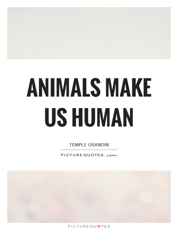animals make us human picture quotes