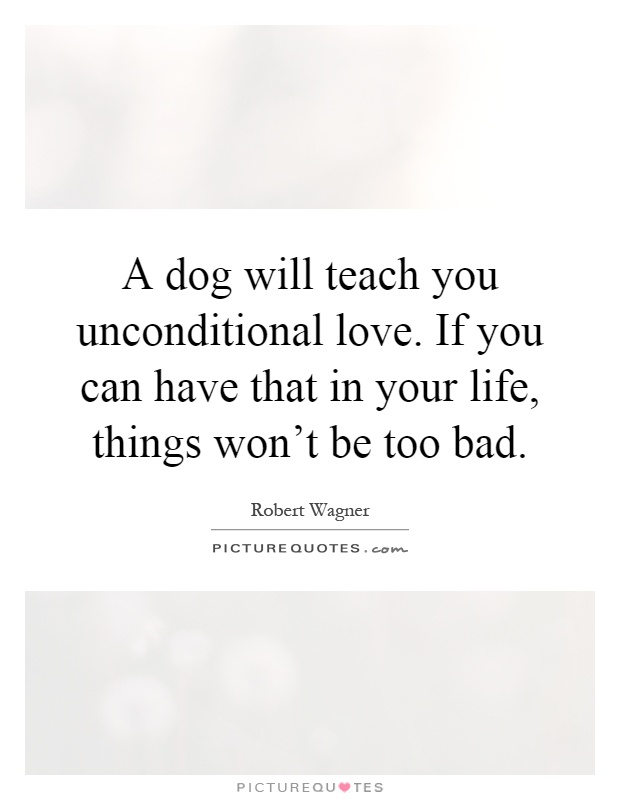 Quotes About Things You Can T Have: A Dog Will Teach You Unconditional Love. If You Can Have