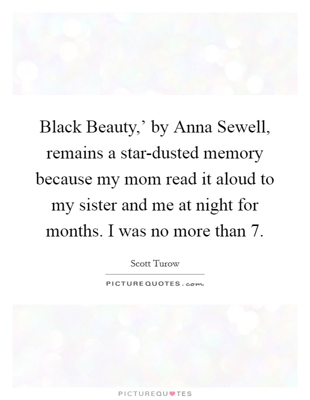 Black Beauty,\' by Anna Sewell, remains a star-dusted memory ...