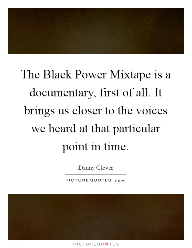 an analysis of the black power mixtape a documentary This item:the black power mixtape by angela davis dvd $1999  the footage  in the first half of the film captures the rise of the black panther party, which was.