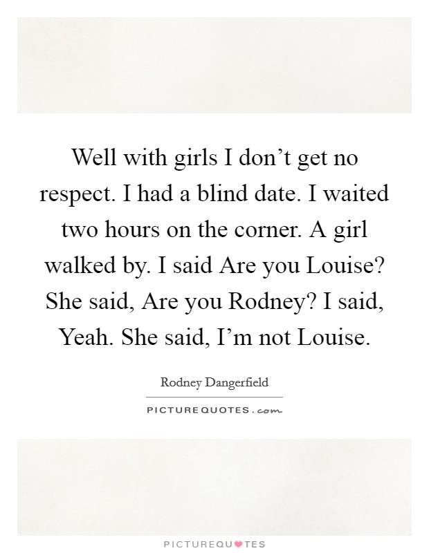 im dating a blind girl