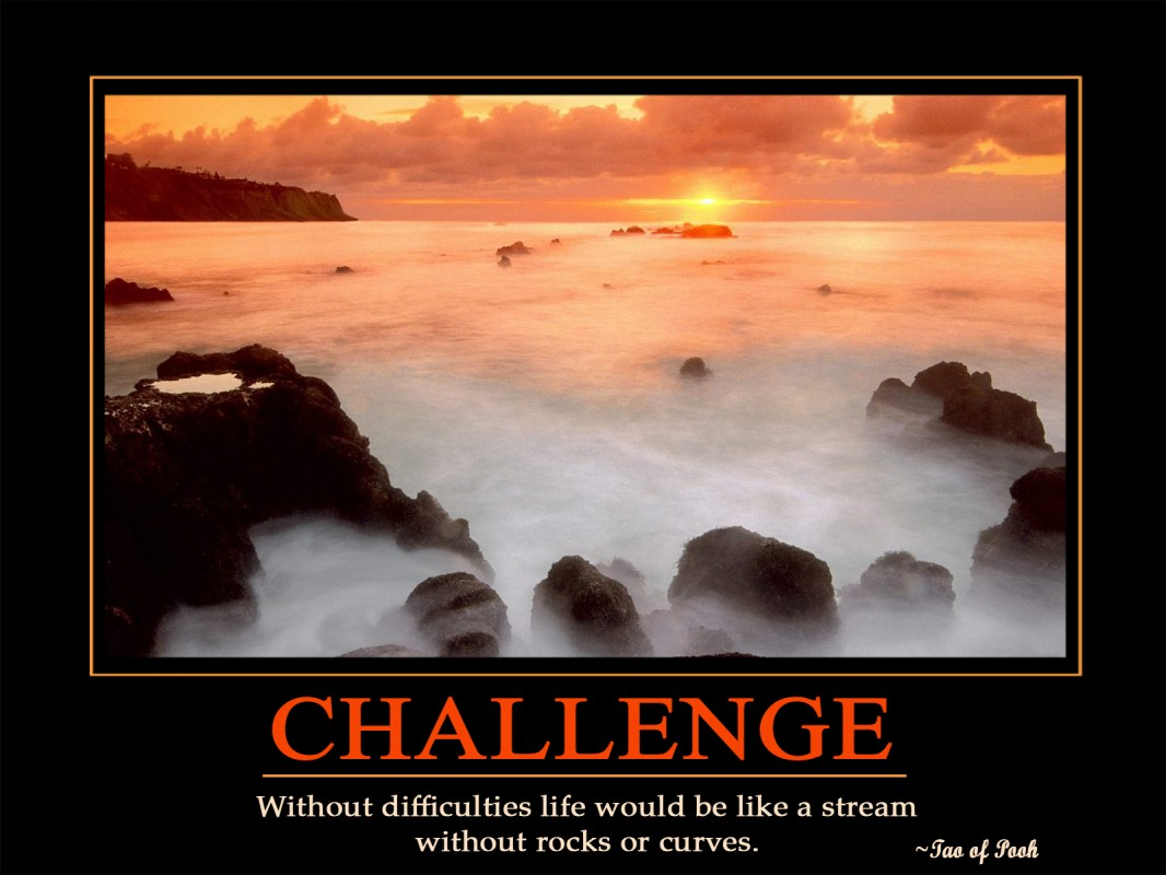 Inspirational Quote On Life Challenges 2 Picture Quote #1