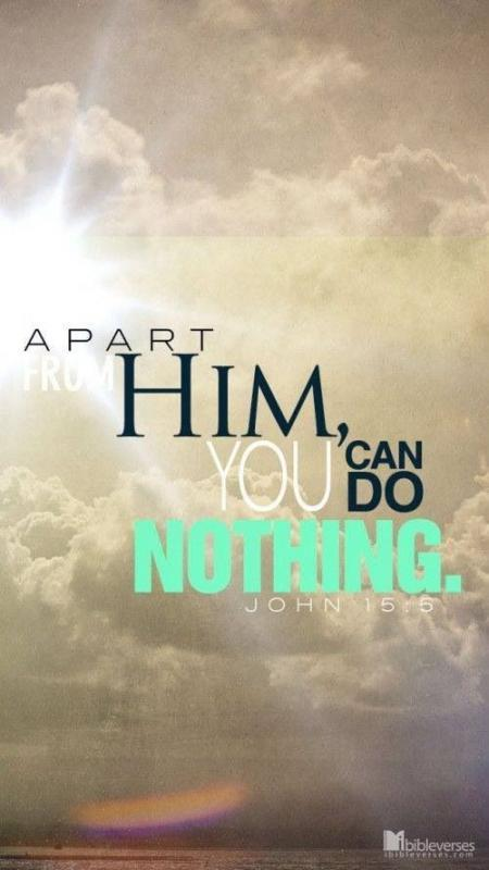 Apart from Him you can do nothing Picture Quote #1