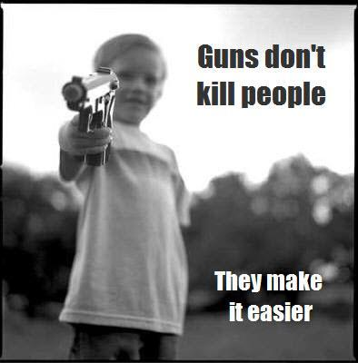 Guns don't kill people, they just make it easier Picture Quote #1