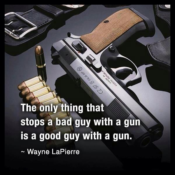 The only thing that stops a bad guy with a gun, is a good guy with a gun Picture Quote #2