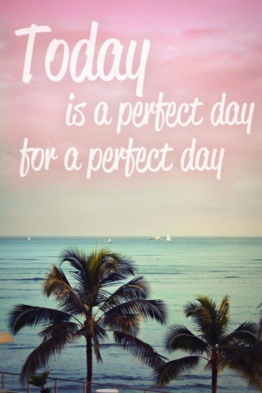 Today is a perfect day for a perfect day Picture Quote #1