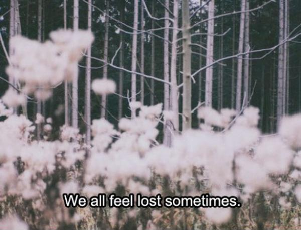 We all feel lost sometimes Picture Quote #1