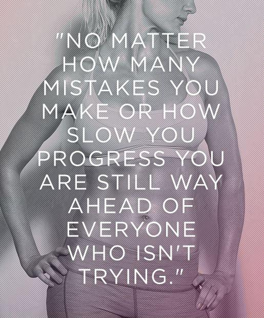 No matter how many mistakes you make or how slow you progress, you are always ahead of everyone who isn't trying Picture Quote #2