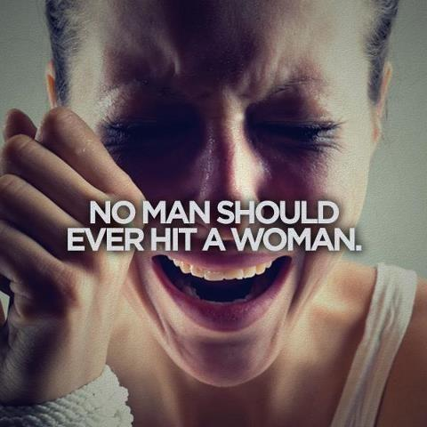 No man should ever hit a woman Picture Quote #1