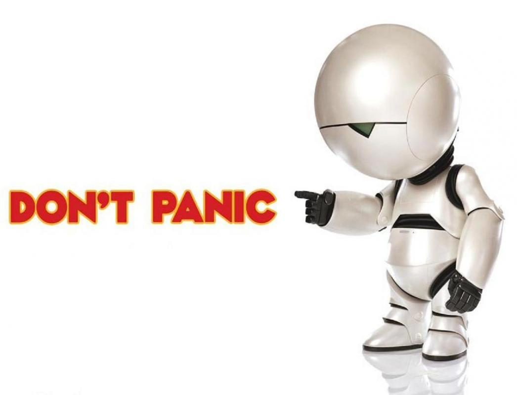 Don't panic Picture Quote #1