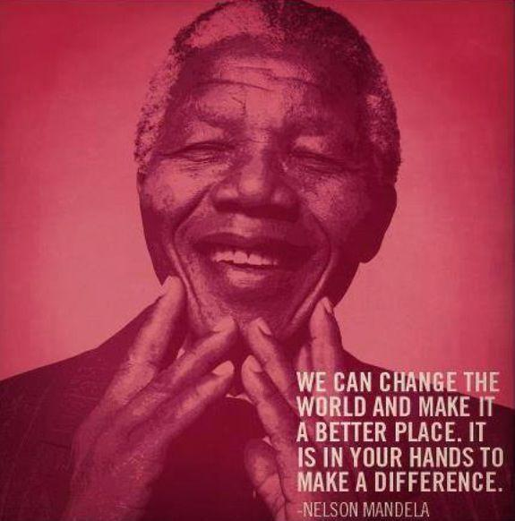 We can change the world and make it a better place. It is in your hands to make a difference Picture Quote #1