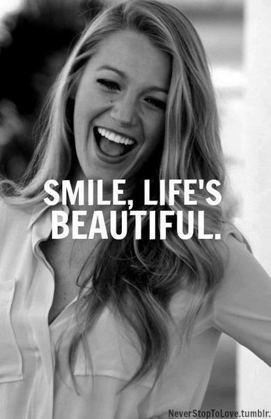 Smile, life's beautiful Picture Quote #1