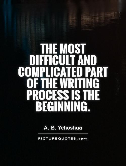 The most difficult and complicated part of the writing process is the beginning Picture Quote #1