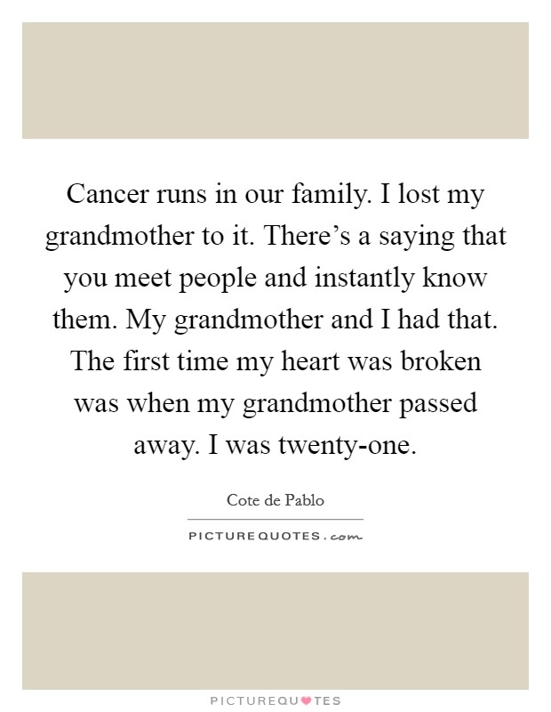 Grandmother That Passed Away Quotes & Sayings | Grandmother ...