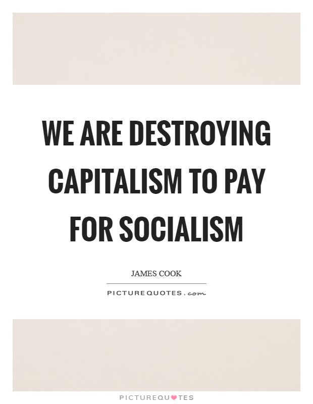 We are destroying capitalism to pay for socialism Picture Quote #1