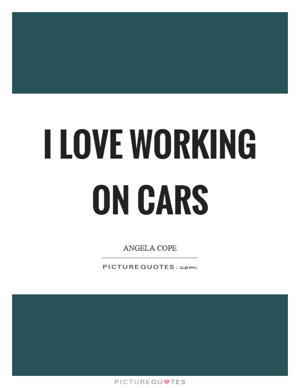 I love working on cars Picture Quote #1