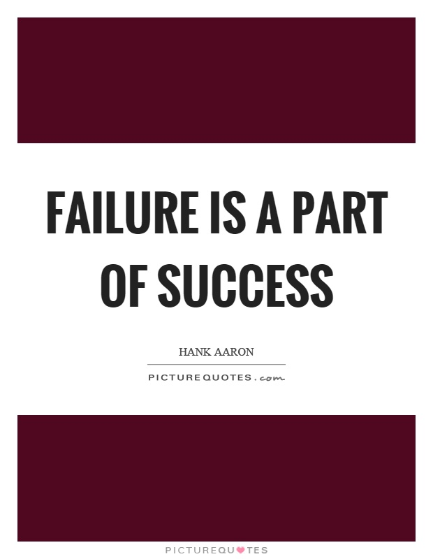 Failure is a part of success Picture Quote #1