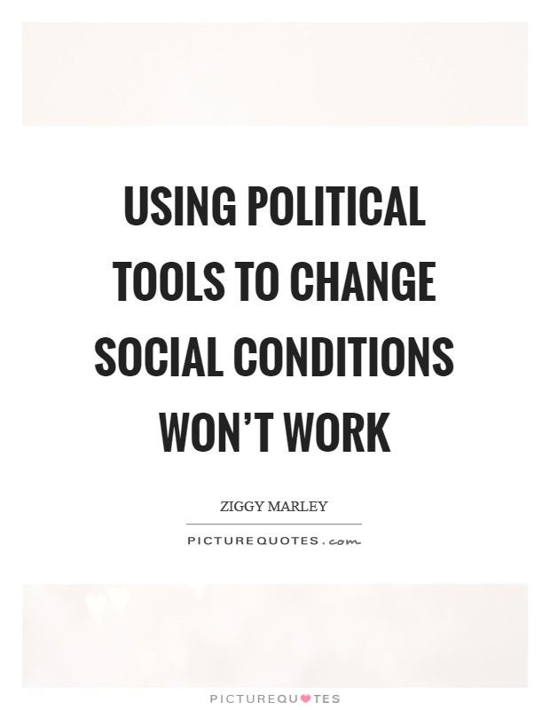 Using political tools to change social conditions won't work Picture Quote #1