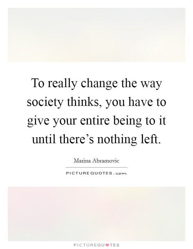 how to change a society