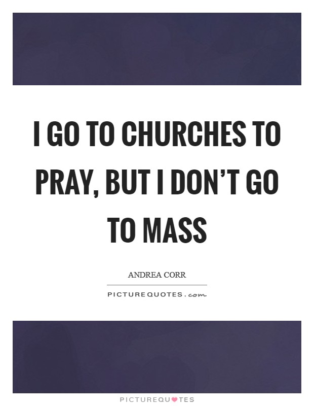 I go to churches to pray, but I don't go to mass Picture Quote #1