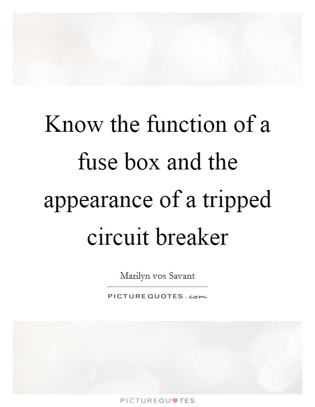 Know the function of a fuse box and the appearance of a ... Breaker Fuse Box And A on ground and neutral breaker box, power breaker box, generator breaker box, wiring breaker box, home breaker box, single breaker box, panel breaker box, cover breaker box, circuit breaker box, ge breaker box,