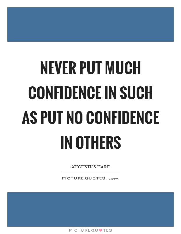 how to build confidence in others