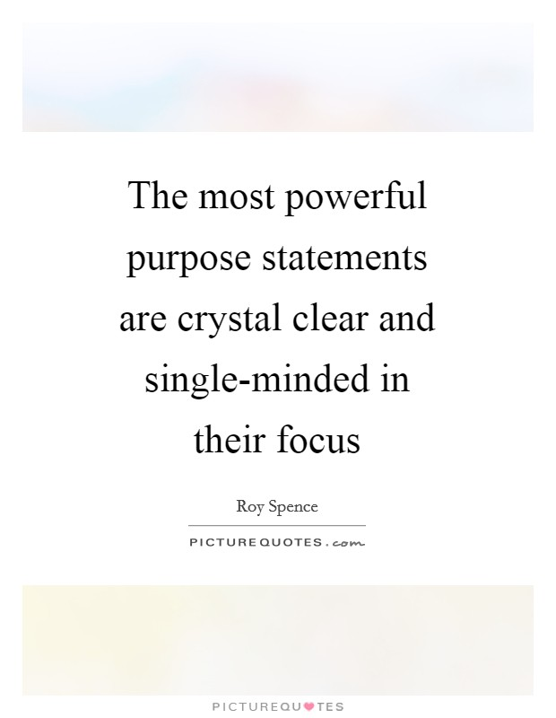 Single minded purpose quotes
