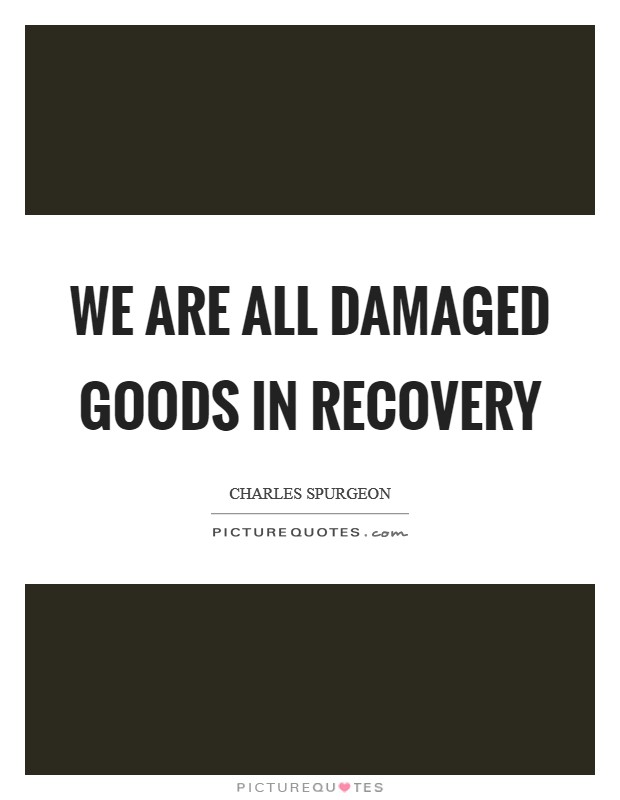 We are all damaged goods in recovery Picture Quote #1