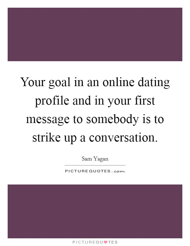 Online dating sites goal