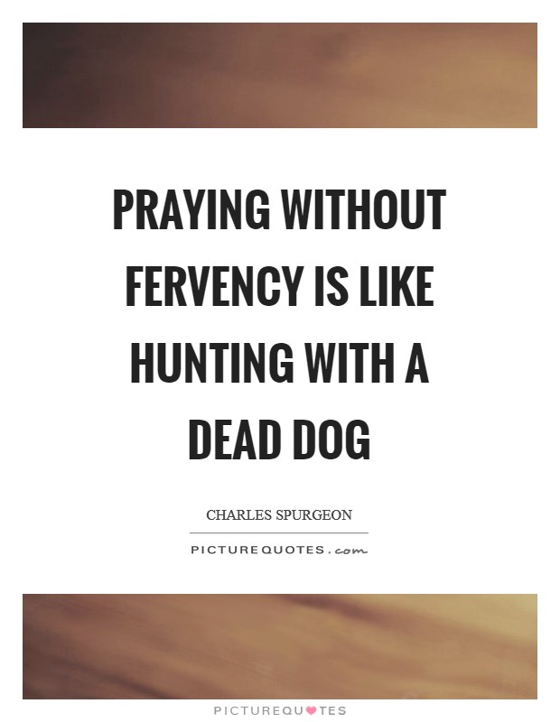 Praying without fervency is like hunting with a dead dog Picture Quote #1