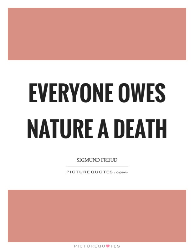 Everyone owes nature a death Picture Quote #1