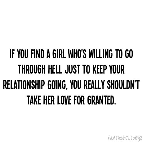Taking your wife for granted