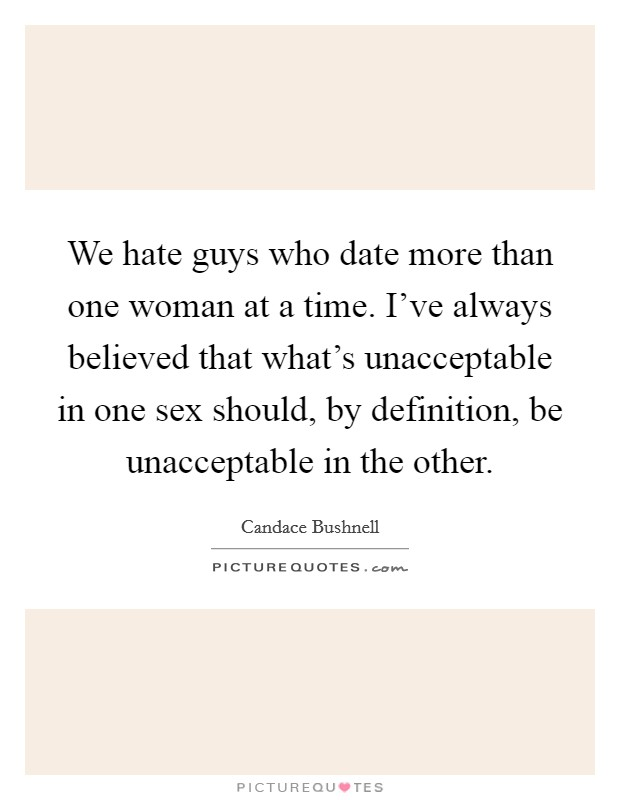 Dating more than one person at a time definition