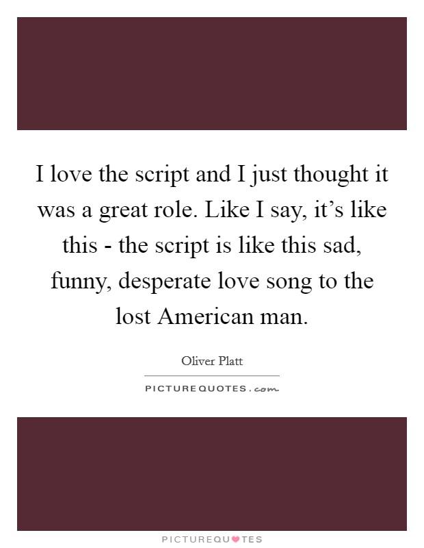 The script love songs