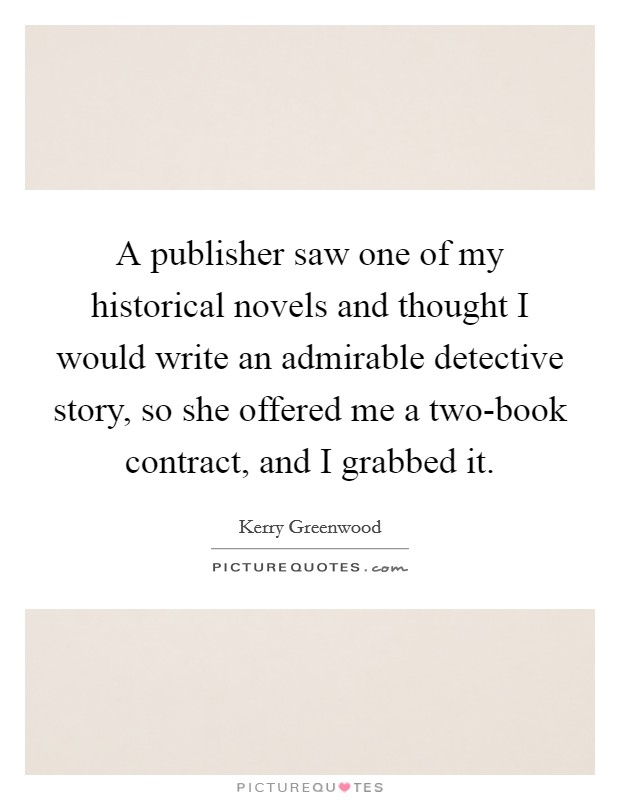 writing a detective novella publishers