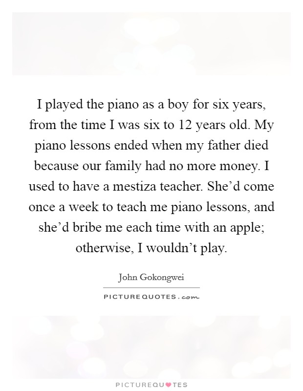 Piano Teachers Quotes & Sayings