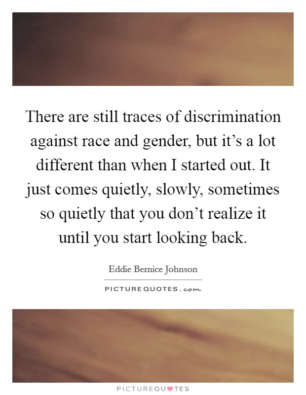 a discussion of discrimination against gender age and race