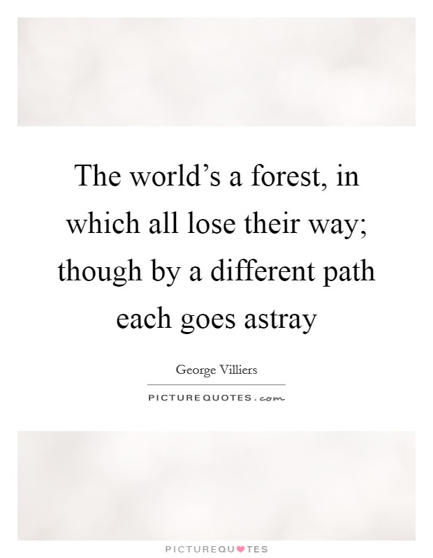 The world's a forest, in which all lose their way; though by a different path each goes astray Picture Quote #1