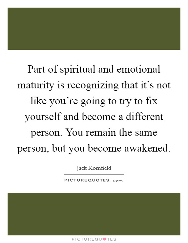 Emotional maturity quotes